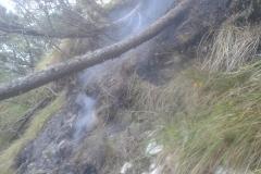 Incendio boschivo monte Celva