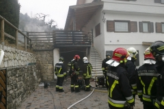 Incendio abitazione Povo